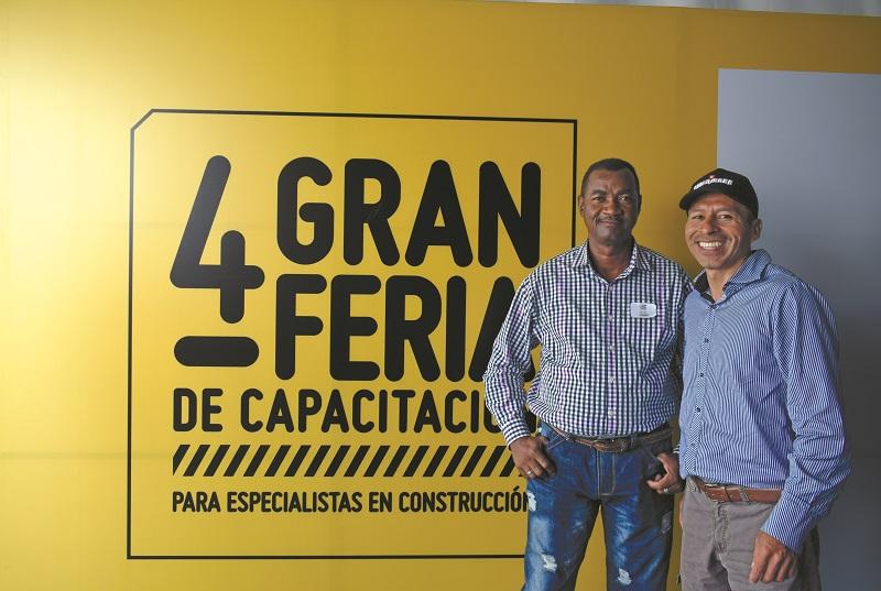Manuel Chiquillo y Edyes González los tesos de la capacitación