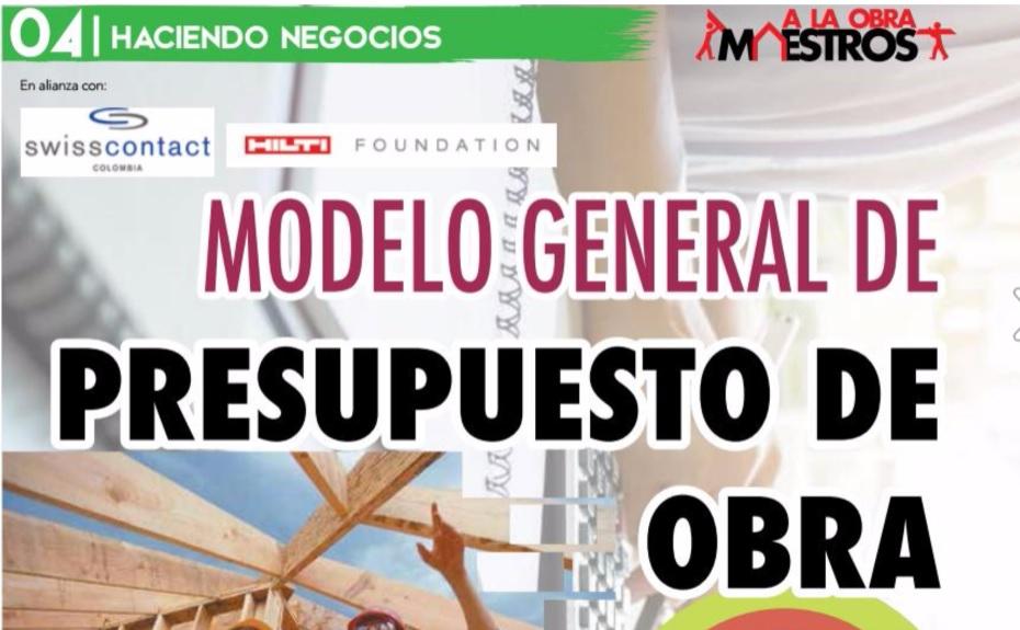 Modelo general de presupuesto de obra a la obra maestros - Presupuestos de obras ...
