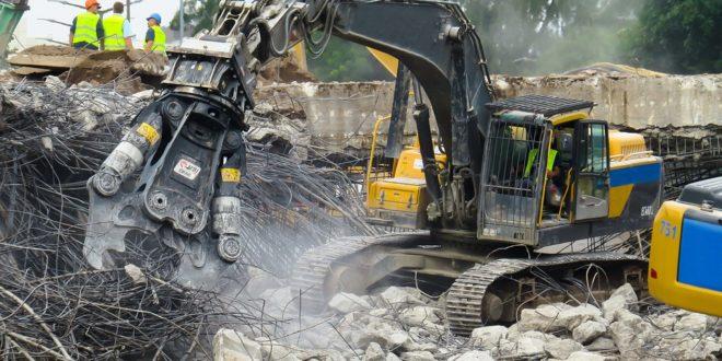 Los escombros que quedan de las obras también se reciclan