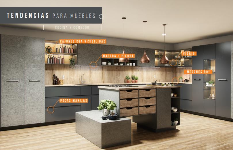 Tendencias en diseño de cocinas 2019 - A la Obra Maestros