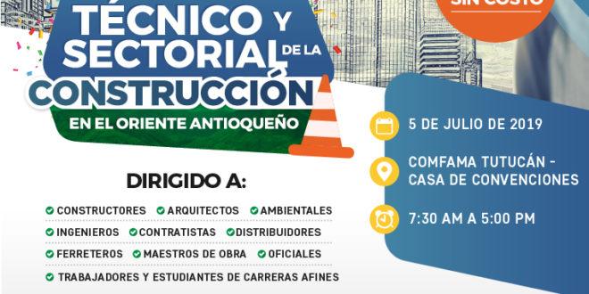 Agéndese para el próximo encuentro técnico y sectorial de la construcción en el Oriente Antioqueño
