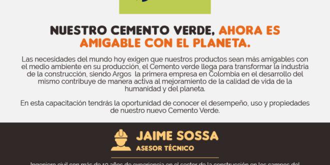 """Charla del Programa Maestro """"Nuestro cemento verde, ahora es amigable con el planeta"""" ARGOS."""