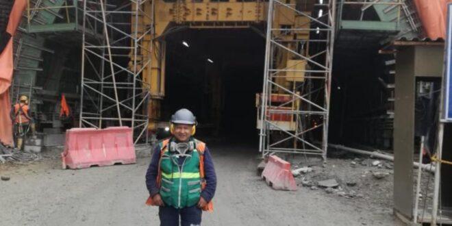 David Hoyos, un maestro que demuestra su experiencia en le túnel de la línea
