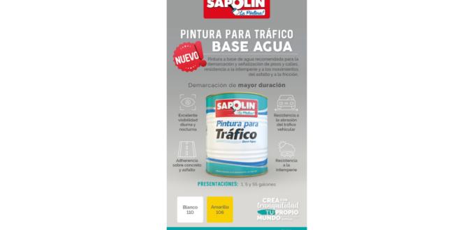 Sapolin lanza una nueva pintura para tráfico base agua